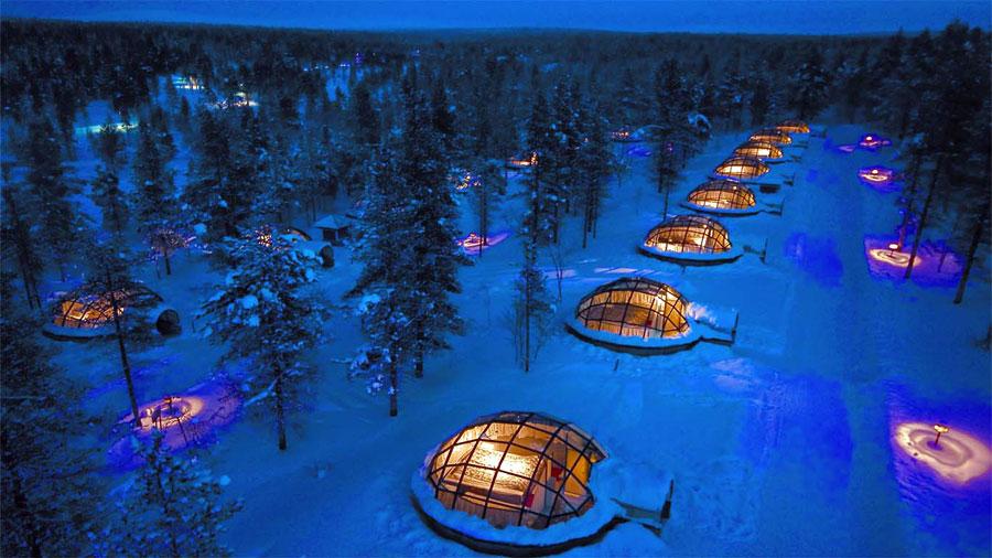 Hotel Kakslauttanen, Finlandia.