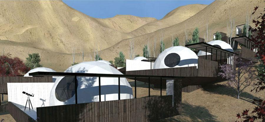 Hotel-astronómico-Elqui-domos,-Chile.