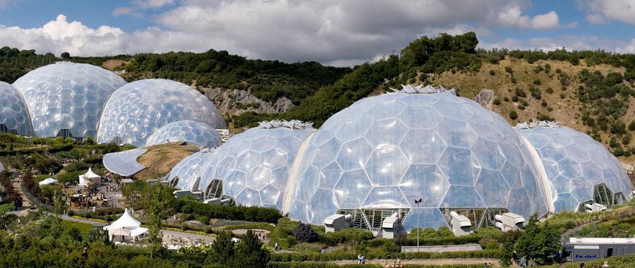 Complejo medioambiental Proyecto eden, Cornwall, Inglaterra
